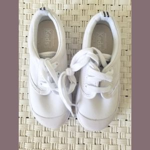 Keds Kids White Graham Fabric Sneakers 9W